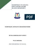 Attendance Register Forms