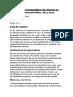 Verificación y Mantenimiento de Sistemas de Transmisión Suspensión Dirección y Freno