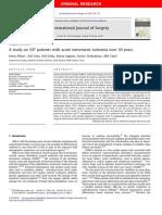 Study on Acute Mesenteric Ischemia