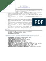Coporate Profile Venkat Resume