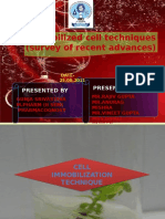 Cell Immobilization Technique