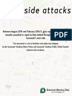 Bulletins released pertaining to the West side attacks