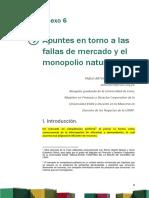 Anexo 6 Apuntes en Torno a Las Fallas de Mercado y El Monopolio Natural
