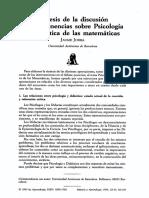 Discusion Psicologia Didactica de Las Mate