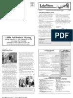 Lake Views Newsletter, Fall 2008, Lake Beulah Protective Association