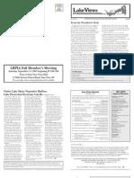 Lake Views Newsletter, Fall 2007, Lake Beulah Protective Association