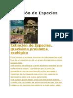 Extinción de Especies