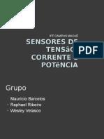 Sensores de Tensão, Corrente e Potência