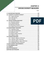 Species Diversity Measures