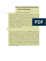 Historial de Las Confraternizaciones de Los Policías ( Segun Ismael Rivera y el Sindicato de Policías)