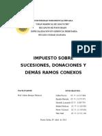 El Impuesto Sobre Sucesiones y Donaciones y Demas Ramos Conexos