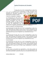 Principales Productos de Ecuador