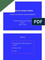 Projets de cuisson solaire - Comment (et comment ne pas) les présenter - French