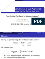 Super-Linear Convergence of Dual Augmented  Lagrangian Algorithm for Sparse Learning