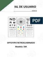 Manual Optotipo Retroiluminado 5m General Asde