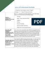 report on progress of professional portfolio nfdn assignemnt 2