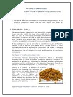 Evaluacion Organoleptica de Productos Deshidratados