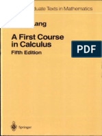 S Lang a First Course in Calculus