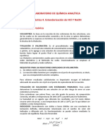 4. ESTANDARIZACIÓN DE ÁCIDO CLORHÍDRICO E HIDRÓXIDO DE SODIO