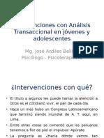 Intervenciones Con a. T. en Jóvenes y Adolescentes