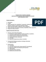Temario Para El Examen de Admision Bioquimica Clinica UNAM