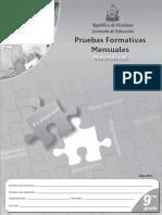 Pruebas Formativas Mensuales 9° MA (edición 2011)