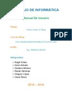 Manual de Usuario Para Crear Un Blog