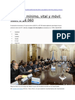 Salario Minimo Vital y Movil y Seguro Desempleo Mayo 2016