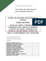 Primer Informe. Diseño de Maquinas
