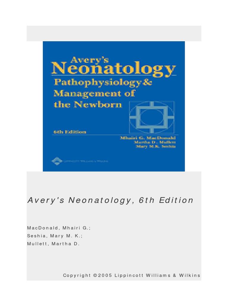 Averys neonatologypdf fandeluxe Image collections