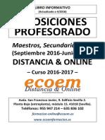 E020-Oposiciones Maestros Secundaria y FP 2016-2017-DISTANCIAONLINE