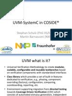 Uvm-systemc in Coside - Coside Ugm 2015