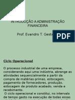 Introdução a Administração Financeira
