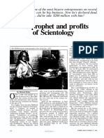 The Prophet and Profits of Scientology