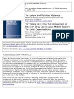 Cartels and Terrorism Shawn Teresa