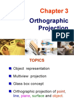 3a. Orthographic Projection - Multiview Projection