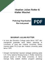 Teori Kepribadian Julian Rotter & Walter Mischel
