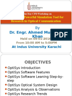 Workshop on OptiSys