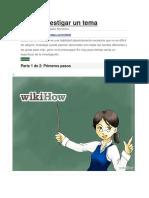 Cómo Investigar Un Tema