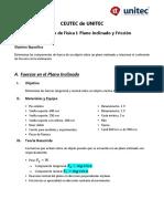 Laboratorio #2 Plano Inclinado_Fricción (Física I)