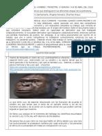 WEBQUEST N.2 ORIGEN DEL HOMBRE