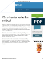 Cómo Insertar Varias Filas en Excel - Excel Total