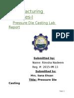 Die Casting Report