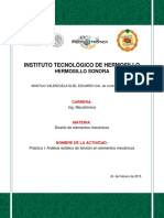 Practica 1 Analisis Estatico de Tension en Elementos Mecanicos