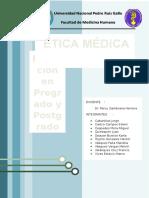 Ética Médica y Educación en Pregrado y Posgrado