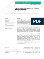 Ketamine for Perioperative Pain Management in Children