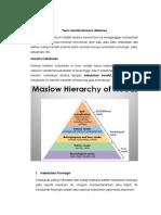 Maslow - Teori Holistik