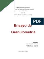 Ensayo de Granulometria