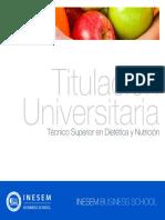 Tecnico Superior en Dietetica y Nutricion (INESEM)