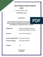 Análisis Visual y de Campo de Talud-Evaluación de sondeos y procesos de remediación